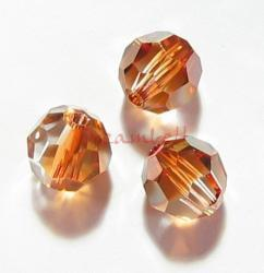 12x Swarovski Crystal Elements 5000 Round Faceted 4mm Copper