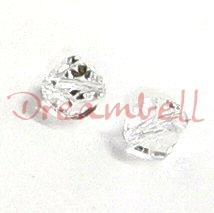 6x SWAROVSKI 5020 Clear HELIX CRYSTAL 8mm