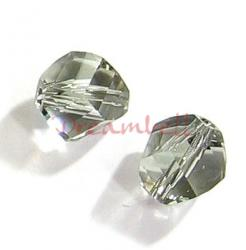 6x SWAROVSKI 5020 Clear HELIX Black Diamond 8mm