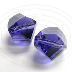 6x SWAROVSKI 5020 Clear HELIX Purple Velvet 8mm