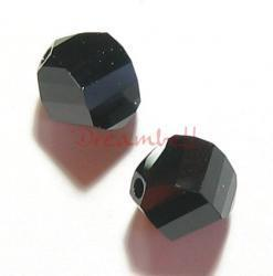 12x SWAROVSKI 5020 Jet Black HELIX CRYSTAL 6mm