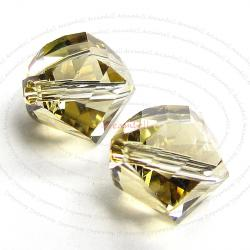 6x SWAROVSKI 5020 Golden shadow HELIX CRYSTAL 8mm