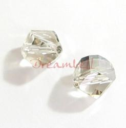 6x SWAROVSKI 5020 Clear HELIX Silver Shade 8mm