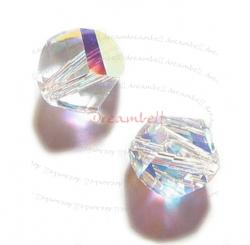 12x SWAROVSKI 5020 Clear AB HELIX CRYSTAL 6mm