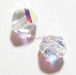 6x SWAROVSKI 5020 Clear AB HELIX CRYSTAL 8mm