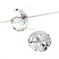 6x Swarovski Crystal Elements 5040 Briolette Bead Rondelle Spacer Clear 6mm