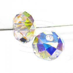 2x Swarovski Crystal Elements 5040 Briolette Bead Rondelle Spacer Clear AB 12mm