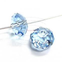 4x Swarovski Crystal Elements 5040 Briolette Bead Rondelle Spacer Aquamarine 8mm