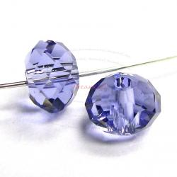 4x Swarovski Crystal Elements 5040 Briolette Bead Rondelle Spacer Tanzanite 8mm