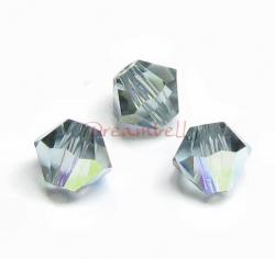 24x Swarovski Elements Bicone Crystal 5301 Indian Sapphire AB 4mm