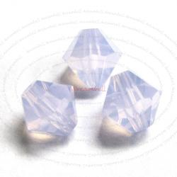 24x Swarovski Elements Crystal 5301 Bicone 6mm Violet Opal