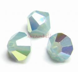 24x Swarovski Elements Bicone Crystal 5301 Pacific Opal AB 4mm