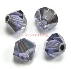 24 x Swarovski Elements Bicone Crystal 5301 Tanzanite Satin 4mm