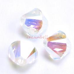 24 Swarovski Elements Xilion Crystal 5328 Clear AB 2x 4mm