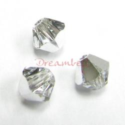 24x Swarovski Elements Xilion Crystal 5328 Crystal Comet Argent Light (Cal) 4mm
