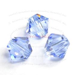 24 x Swarovski Elements Xilion Crystal 5328 Light Sapphire 4mm