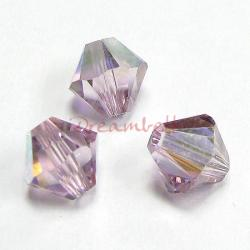 24x Swarovski Elements Xilion Crystal 5328 Light Amethyst AB 6mm.