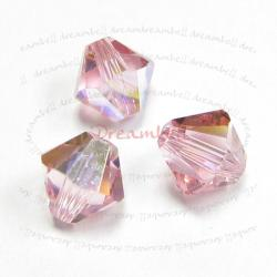 24x Swarovski Elements Xilion Crystal 5328 Light Rose AB 5mm.