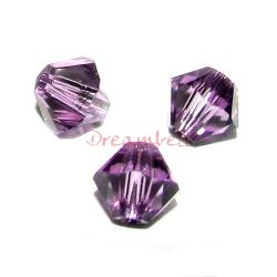 24 x Swarovski Elements Xilion Crystal 5328 Lilac 4mm