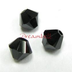 24x Swarovski Elements Xilion Crystal 5328 Jet Black 4mm