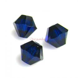 72x Swarovski Elements Crystal 5328 Xilion Dark Indigo 4mm Spacer Bead