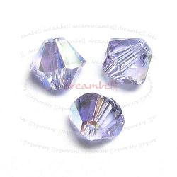 24 x Swarovski Elements Xilion Crystal 5328 Violet AB 4mm