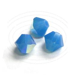 72x Swarovski Elements Xilion Crystal 5328 Caribbean Blue Opal AB 4mm