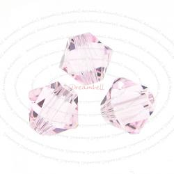 24x Swarovski Elements Xilion 5328 Rosaline 6mm Crystal Bead