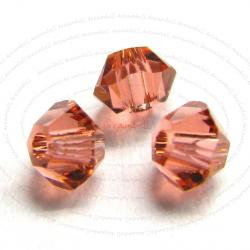 72x Swarovski Elements Xilion 5328 Crystal Bead Padparadscha 4mm