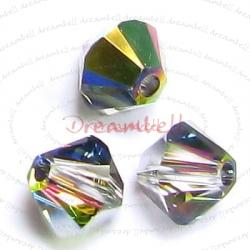 12x Swarovski Elements Xilion Crystal 5328 Vitrail Medium AB 6mm.
