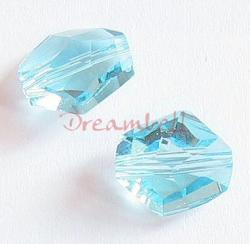 2x Swarovski Elements Crystal 5523 Cosmic Beads 12mm Aquamarine