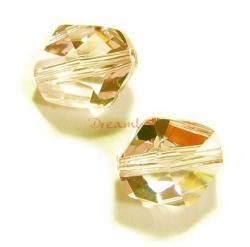 1x Swarovski Elements Crystal 5523 Cosmic Beads 16mm Golden Shadow