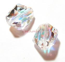 1x Swarovski Elements Crystal 5523 Cosmic Beads 16mm Clear AB