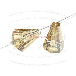 2x Swarovski 5540 Artemis Cone Bead 12MM Golden Shadow