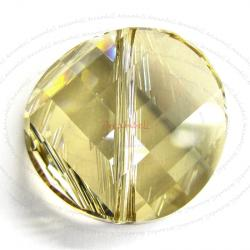1x Swarovski Elements Crystal 5621 Twist Bead Crystal Golden Shadow 18mm