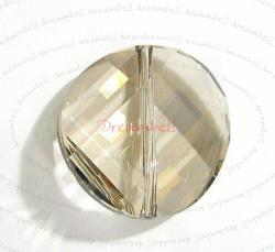 1x Swarovski Elements Crystal 5621 Twist Bead Crystal Silver Shade 18mm