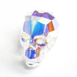 1x Swarovski Elements Crystal 5750 Skull Bead Clear AB 13mm