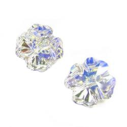 2x Swarovski Elements Crystal Clover Bead Clear AB 5752 12mm