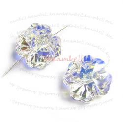 4x Swarovski Elements Crystal Clover Bead Clear AB 5752 8mm