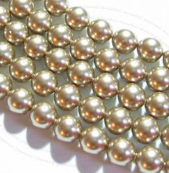 10x Swarovski Crystal Pearls 5810 Round Bronze 10mm