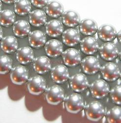 50x Swarovski Crystal Pearls 5810 Round Light Grey 6mm