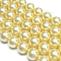50x Swarovski Elements Crystal 5810 Round Light Gold Pearl 3mm