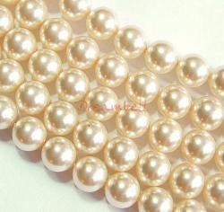 50x Swarovski Elements Crystal 5810 Round Creamrose Pearl 4mm