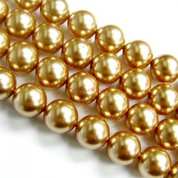 50x Swarovski Crystal Pearls 5810 Round Rose Gold 6mm