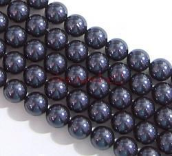 10x Swarovski Crystal Pearls 5810 Round Dark Purple 10mm