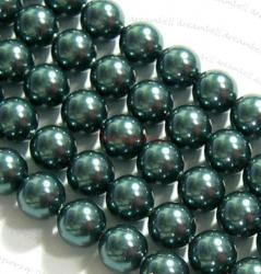4x Swarovski Crystal Pearls 5810 Round Tahitian-Look 12mm