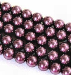 50x Swarovski Elements Crystal Pearls 5810 Round Burgundy 6mm