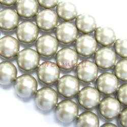 50x Swarovski Crystal Pearls 5810 Round Platinum 8mm