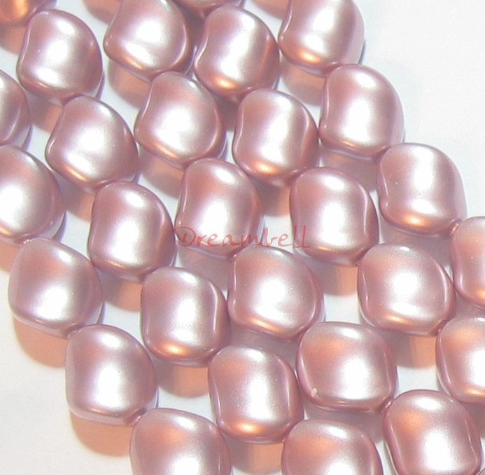 Swarovski Crystal Curve Pearl 5826 9x8mm POWDER ROSE