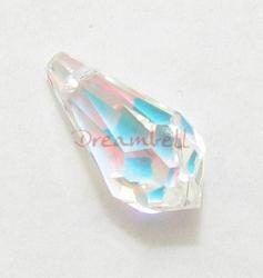 4x Swarovski Elements Crystal 6000 Teardrop Clear AB 13mm